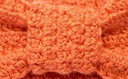 一件钩针编织的纺织品的照片 免版税图库摄影