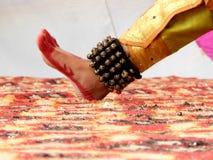 一位古典舞蹈家的脚 库存照片