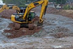 一位大挖掘者在泰国 库存照片