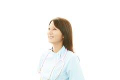 一位女性护士的画象 免版税库存照片