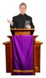 好传教者,大臣,牧师,教士布道Iso 库存图片