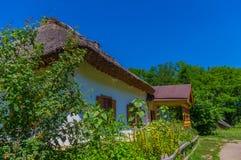 一位富裕的农夫的房子 (19世纪) 免版税图库摄影
