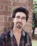 一位愉快的印第安学员的特写镜头。 免版税库存照片
