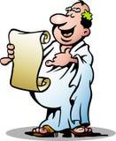 一位愉快的希腊教士的例证 免版税库存图片