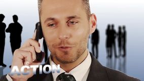 一位成功的经理 股票视频