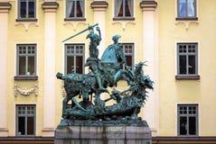 一位战士的状态马的 图库摄影