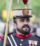 一位战士的画象从皇家卫兵的,马德里西班牙 免版税库存照片
