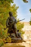 一位战士的雕象在曲拱海军部-伦敦,英国附近的 库存照片