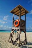 一位救生员的城楼海滩的 库存照片