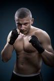 一位新拳击手的纵向 图库摄影
