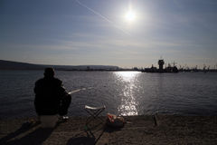一位渔夫 库存照片
