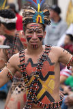 一位男性舞蹈家的特写镜头从亚马逊的 免版税图库摄影