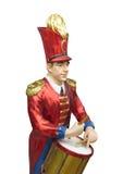 一位穿制服的鼓手的小雕象被隔绝 图库摄影