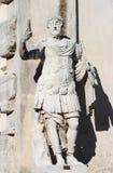 一位罗马militar领导的雕象 库存照片