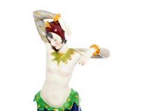 一位舞蹈家的小雕象从二十的 库存照片