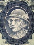 一位高地居民的画象从波兰金钱的 免版税库存图片