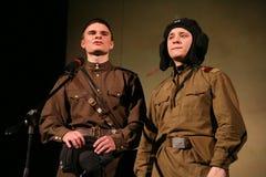 一位年轻俄国战士的F fromportrait,诗人,英雄 戏剧强比那里死亡是仅生活 免版税库存图片