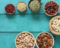 一健康吃的坚果混合 图库摄影