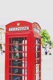 一典型红色电话箱子在中央伦敦 库存照片