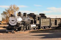 一列老火车在Tonopah 免版税库存照片