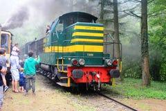 一列1900火车在卢森堡 免版税图库摄影