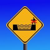 一刹那洪水风险符号 库存照片