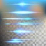 一刹那能量光芒 10 eps 免版税库存图片