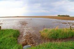 一刹那洪水 库存图片