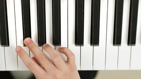 一前一后弹钢琴Partiture的兄弟 股票录像