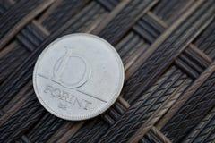 一匈牙利福林HUF作为货币的标志在匈牙利 库存图片
