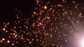 一千个飞行的灯会 图库摄影