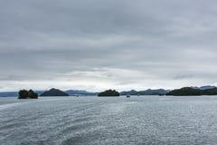 一千处Island湖风景 免版税库存图片