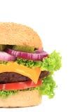 一半开胃汉堡包。 免版税库存照片