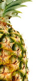 一半查出的菠萝 免版税库存照片