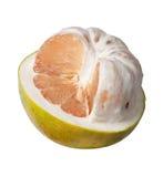 一半被剥皮的柚 免版税图库摄影