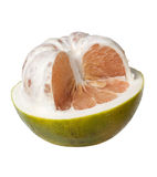 一半被剥皮的柚 库存照片