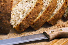 一半面包 免版税库存照片