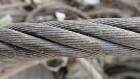 一厚实的钢缆绳,非常强有力 图库摄影