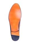 一双人的鞋子的橡胶脚底在白色的 免版税库存图片