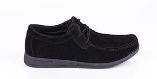 一双新的黑鞋子 库存图片