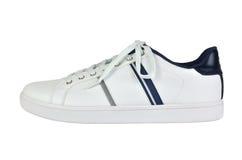一双白色运动鞋 图库摄影