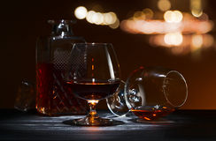 一口威士忌酒用白兰地酒 库存图片