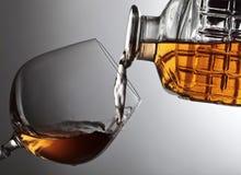 一口威士忌酒白兰地酒 免版税库存照片