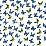 一只五颜六色的蝴蝶的例证 免版税库存图片