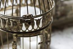 一只古铜色闭合的笼子 免版税库存图片