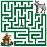 一只失去的山羊的迷宫 库存照片