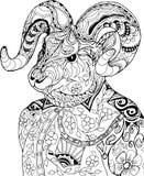一只山羊的画象在衬衣的 免版税库存照片