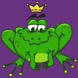 一只微笑的青蛙的例证,传染媒介EPS10 库存照片
