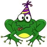 一只微笑的青蛙的例证,传染媒介EPS10 免版税库存图片