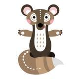 一只快乐的灰鼠 动画或孩子的漫画人物 库存照片